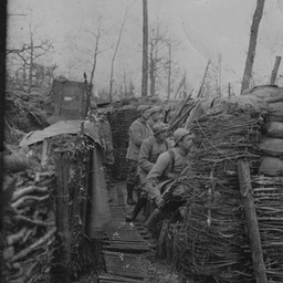 French front line trench, 1916