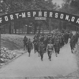 German prisoners from U58 at Fort McPherson POW camp, GA (1 of 3)